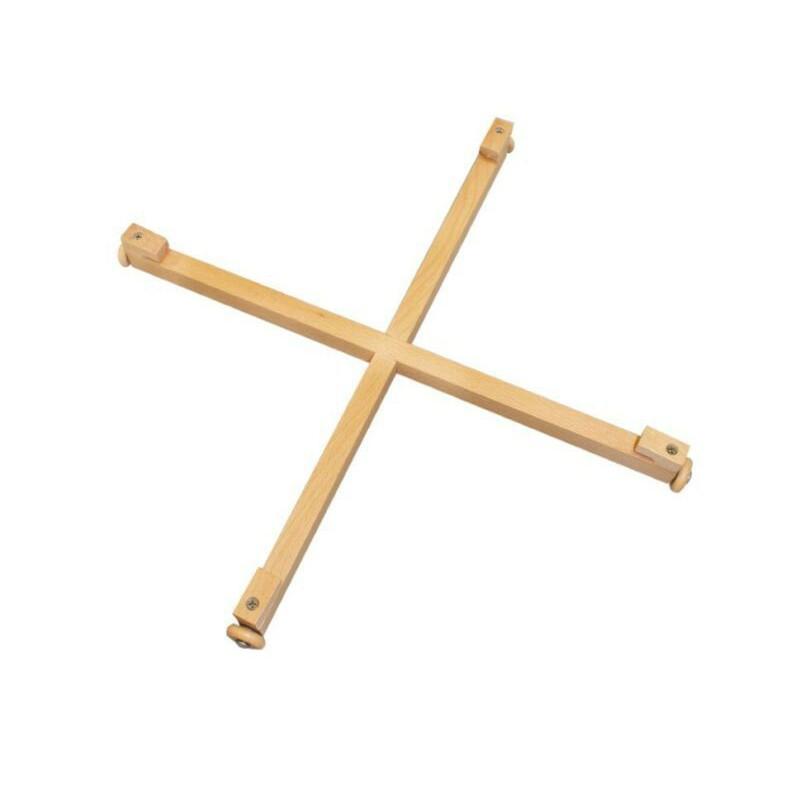 croix tournant bois pour jeux de societe