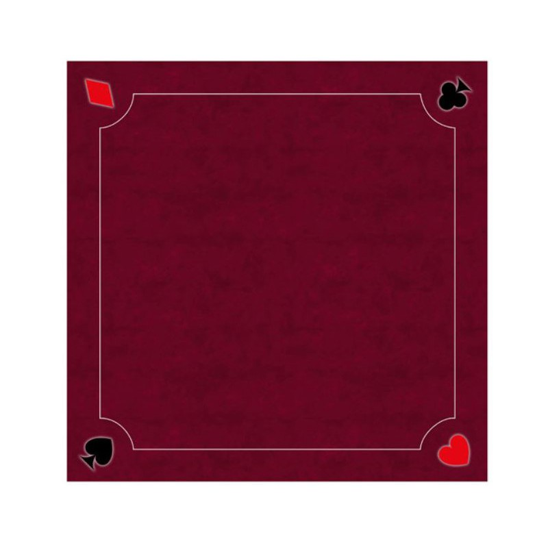 tapis cartes excellence neo rouge 60x60cm