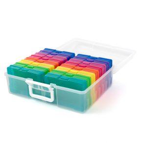 boite de rangement 16 compartiments pour photos 10 x 15 cm