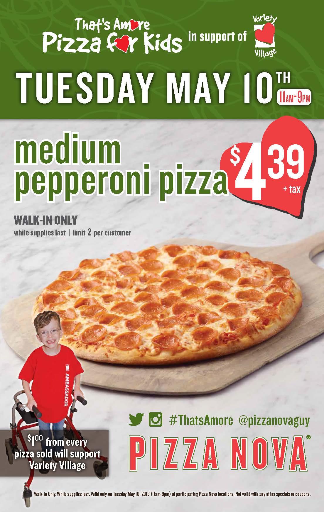 Pizza Nova S That S Amore Pizza For Kids Day
