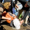Volunteer Demonstrates Waterboarding.