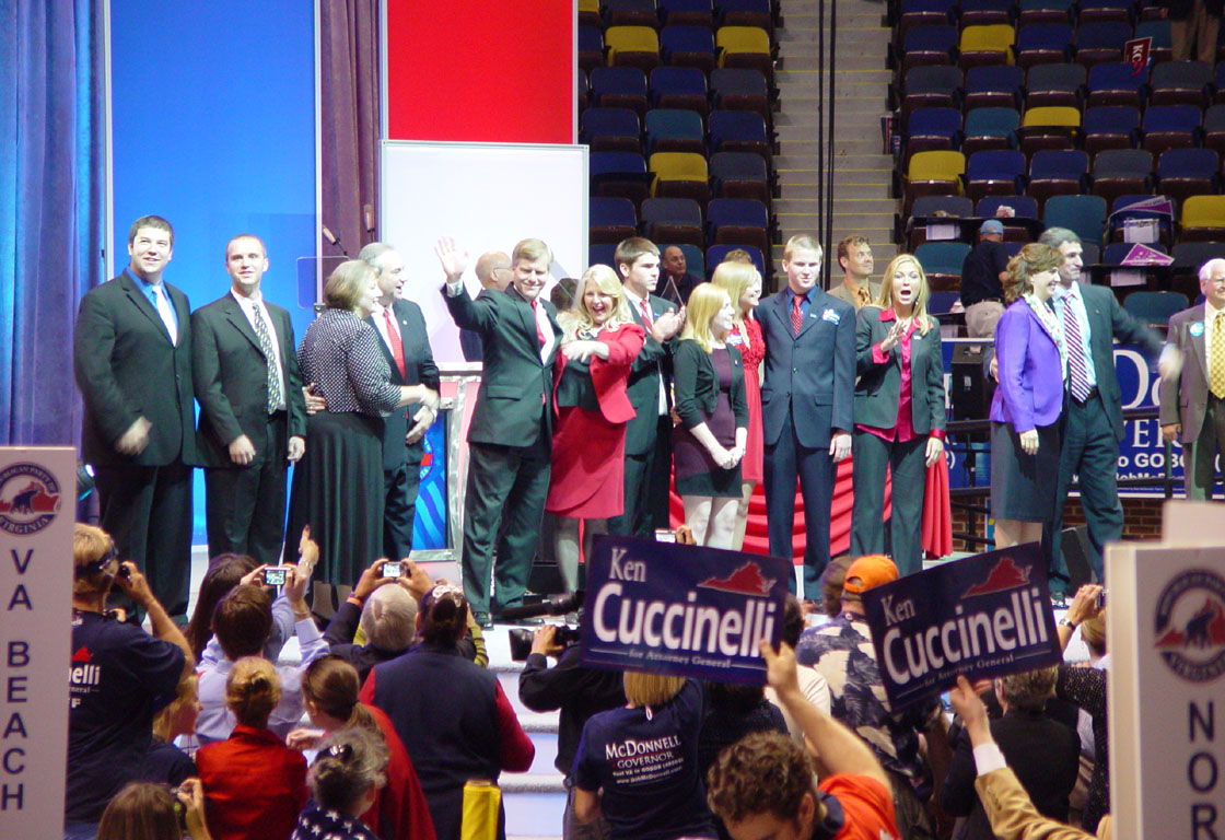 Bob McDonnell, Bill Bolling, Ken Cuccinelli and families