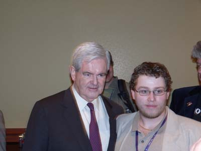 Newt Gingrich Visits Blogger's Lounge