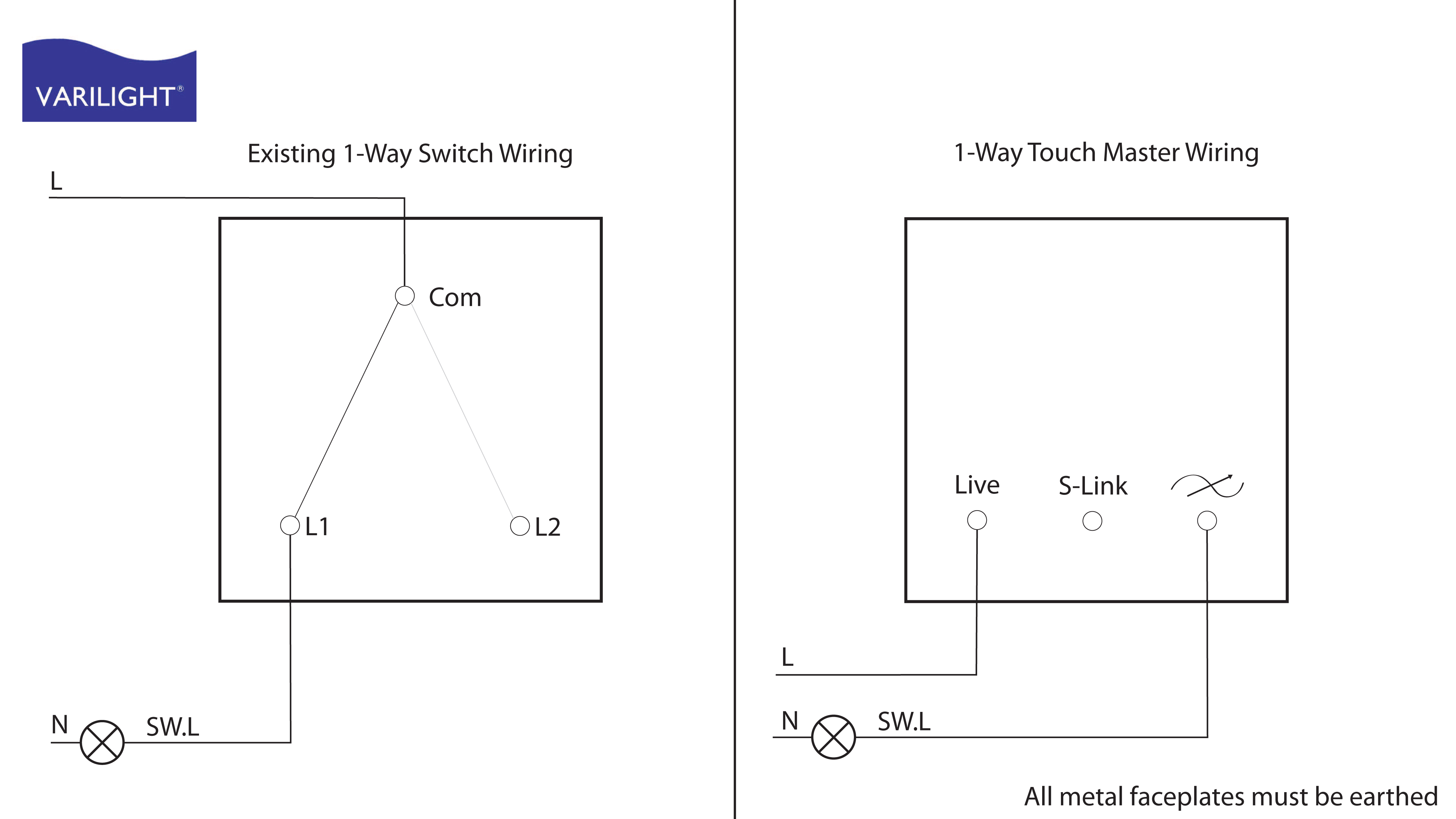 Wiring Diagram 2 Switch 1 Light