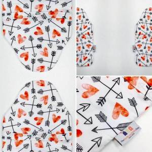 värmeflaska Hearts & Crosses, detaljer, 2 liter