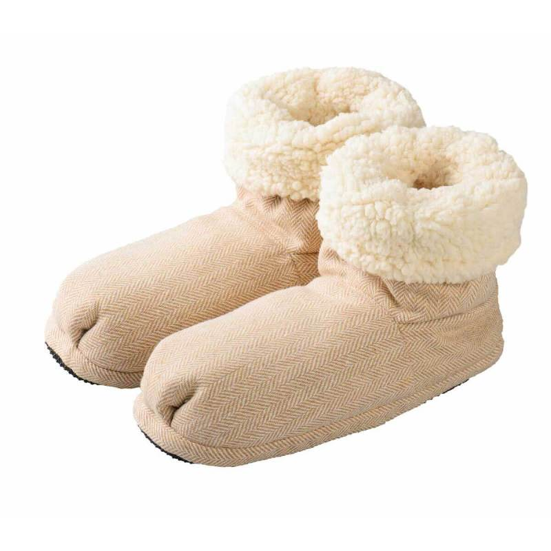 Warmies Slippies Boots Comfort beige mikrovågstofflor