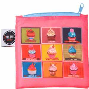 ANYBAGS shoppingkasse Cupcakes - förvaringspåse