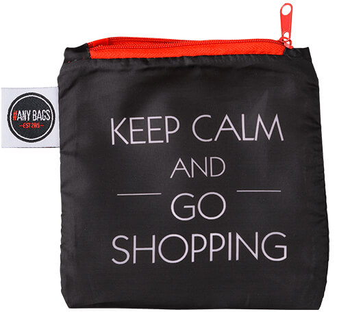 ANYBAGS shoppingkasse Keep Calm and Go Shopping - förvaringspåse