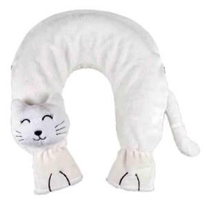 Sänger värmeflaska White Cat - för nacke & axlarna