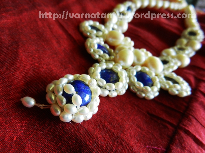 Rice Pearls and Lapis Lazuli - Long Necklace