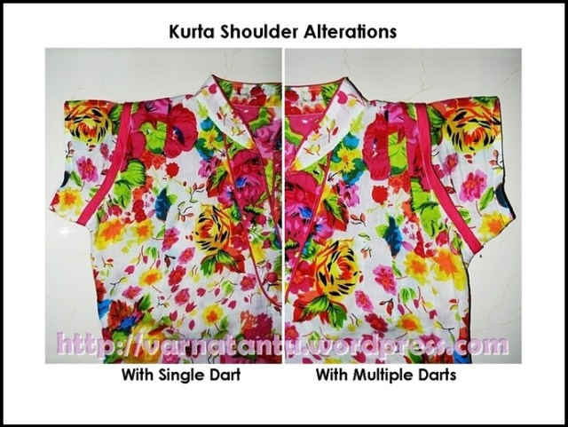 Kurta Shoulder Alteration done with Single & Multiple Darts