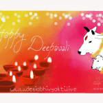 Deepavali Greeting Card by DeSi by DeSi with Dia and Cows