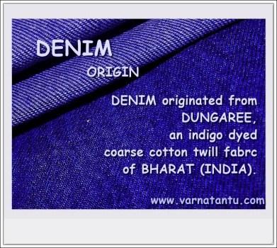 Denim origin from Dungaree of India