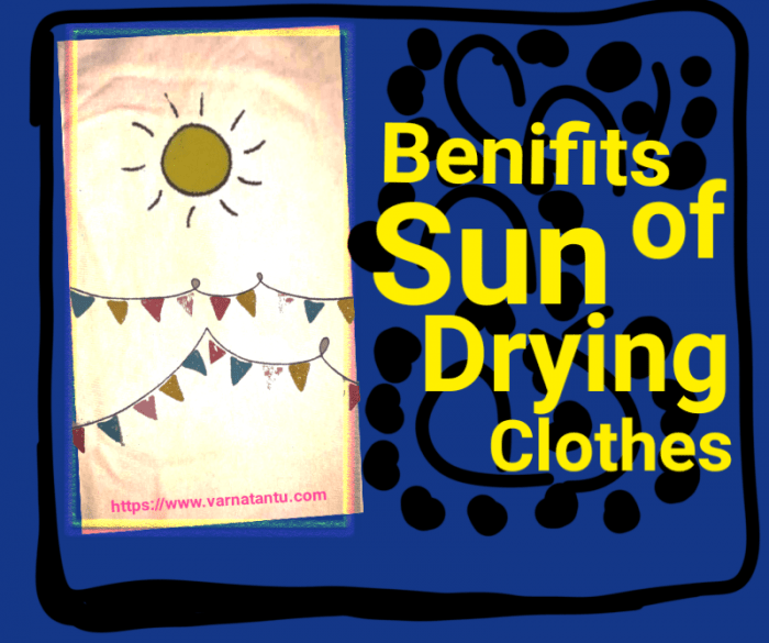 Benifits of Sun Drying Clothes