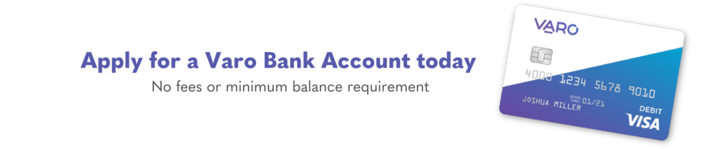 apply for a Varo Bank Account