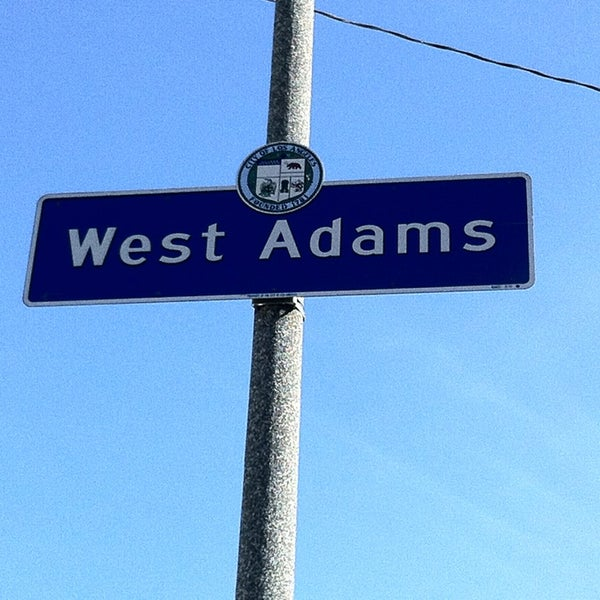 west-adams-sign