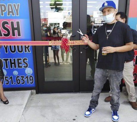 urban city fashion grand opening ribbon cutting