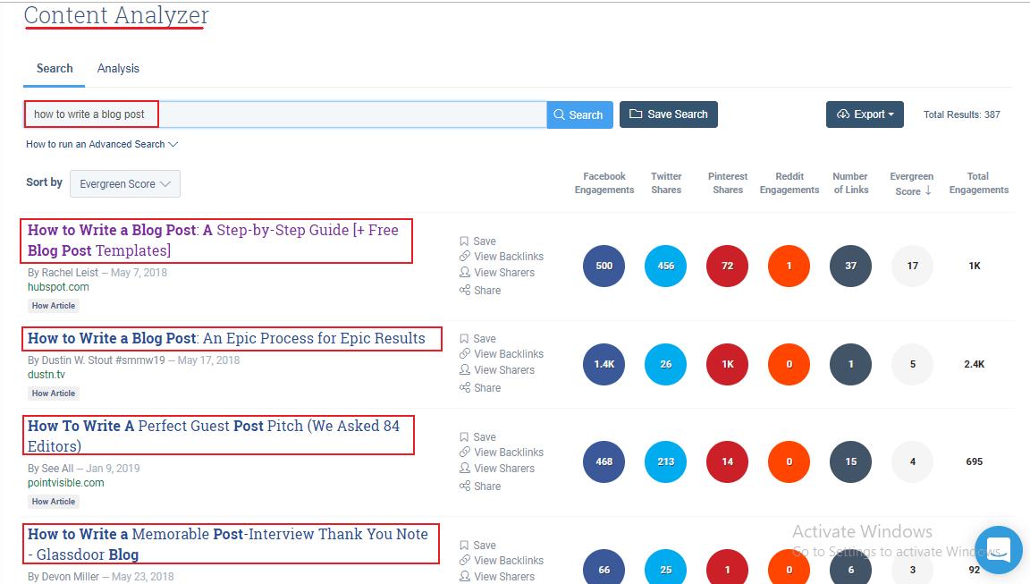Buzzsumo-results