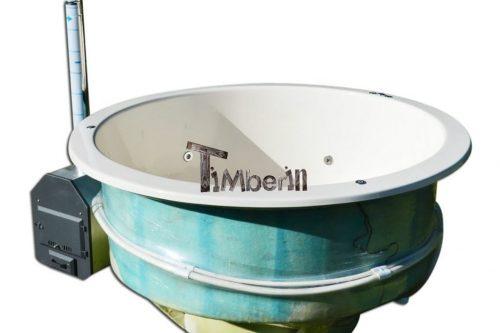 spa tinozza hot tub in vetroresina modello di terrazzo