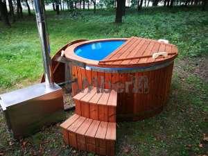 Hot tubs in legno vasca tinozza esterno giardino 30 modelli for Vasche da bagno esterne