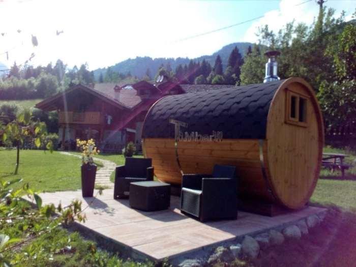 Sauna Rotonda Esterna A Botte, Lara E Nilo, Trento, Italia (6)