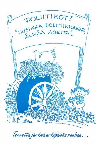 Seppo Koskiman rauhankortti 1980-iuvulta