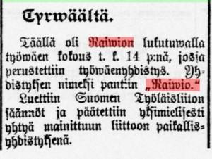 Kansan Lehden uutine 17.10.1906