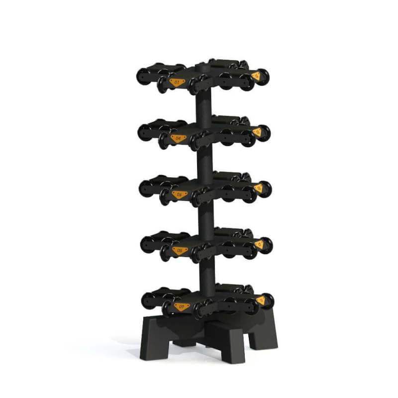 Vertikales Hantelregal