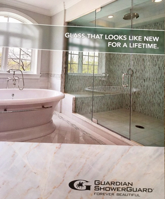 ShowerGuard Glass has a limited lifetime warranty to stay clean