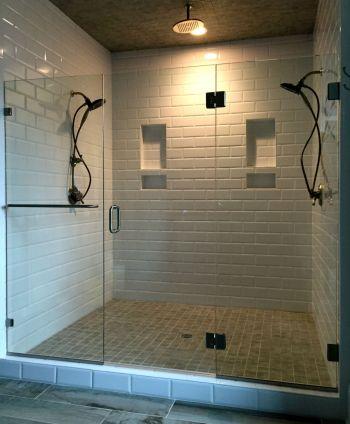 Frameless Shower Door Hallsley Subdivision Biringer Builders