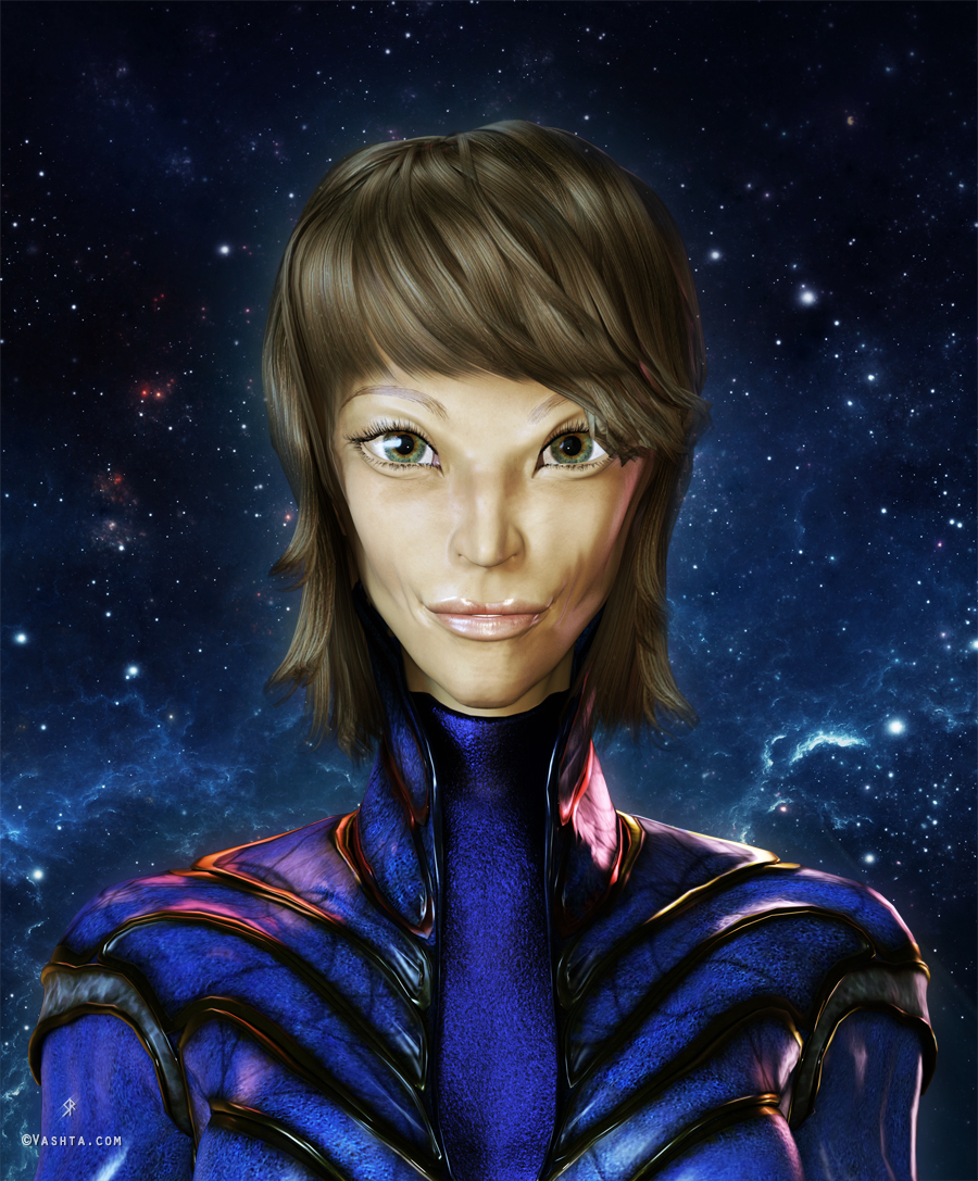 Sasha the Pleiadian   Vashta Narada's Galactic Art