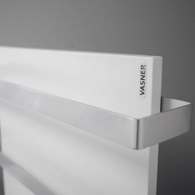 Die Aluminium Stangen verleihen der Metall Flächenheizung einen noch edleren Touch
