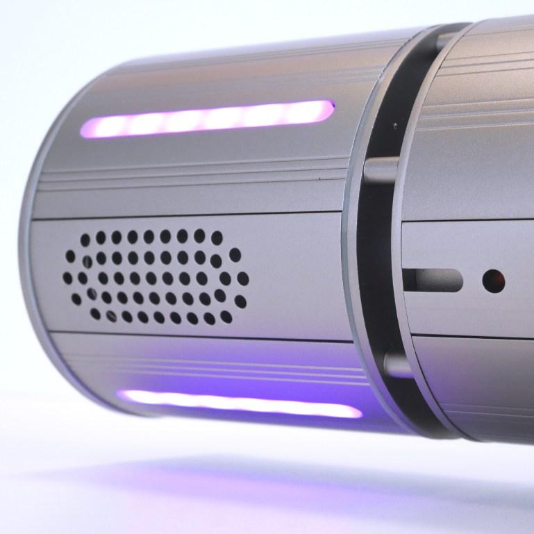 RGB LED Stripes eingelassen Appino BEATZZ - Infrarot-Heizstrahler Bluetooth mit LED Licht und Musik-Lautsprecher