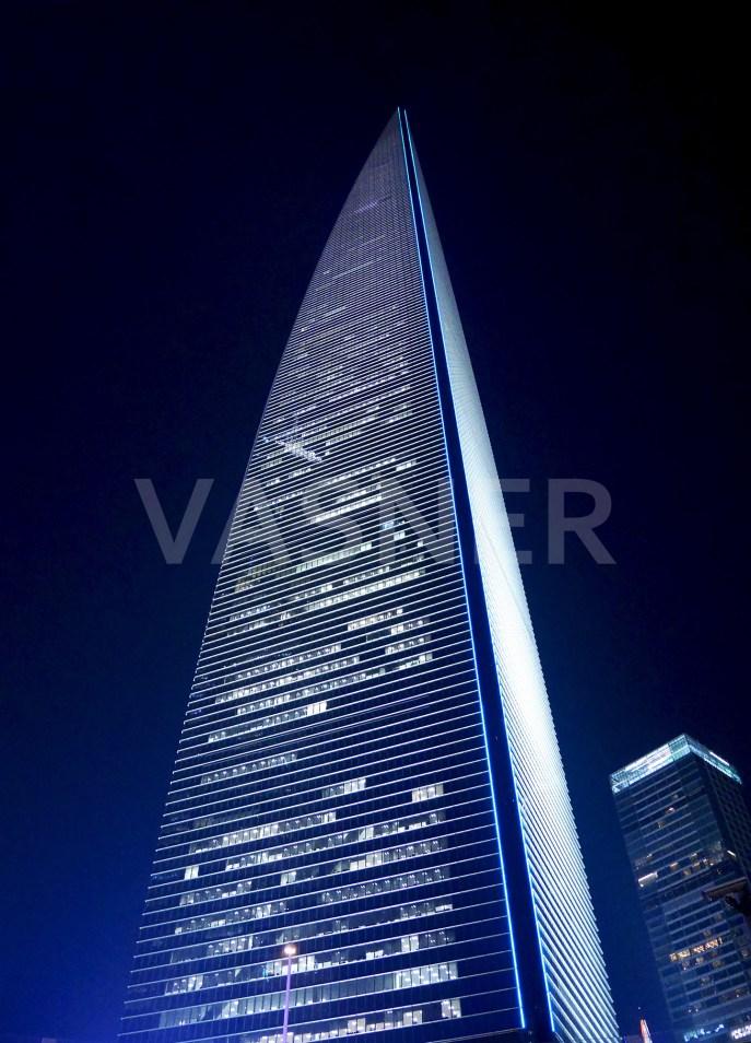 VASNER Panora Motiv Shanghai Financial Glas Infrarotheizung mit Bild