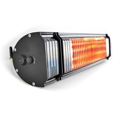 Infrarotstrahler mit TÜV und Ultra Low Glare Gold Röhre