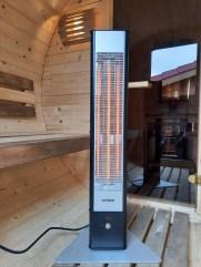 Infrarot Heizstrahler Standgerät innen Sauna