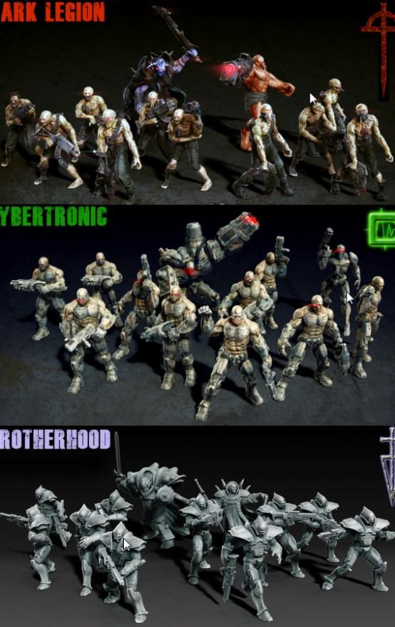 La hermandad, Cybertronic y la Legión Oscura.