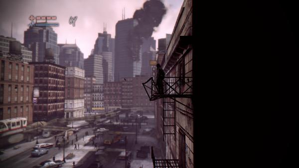 Randall observando la decadencia de su ciudad después de la fiesta de nochevieja