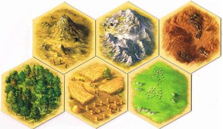 Estos hexágonos producen materia prima.