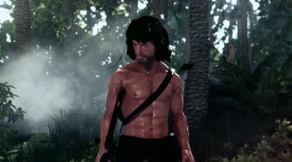 Chicas..., John Rambo sale en tetas