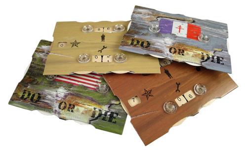 Marcadores, con 4 diales, para contar Estrellas, medallas, soldados o equipo.
