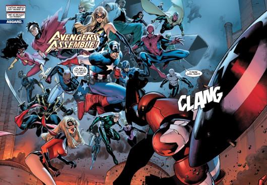 Los Vengadores entrando a lo Arteche
