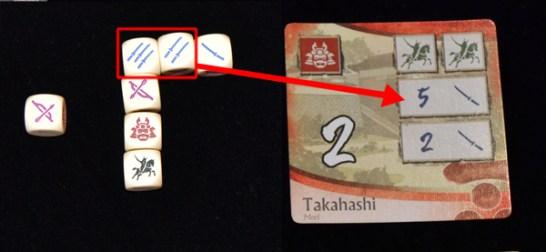 Podemos capturar el frente de batalla de 5 ó de 2 infanterias. Decidimos capturar el de 5.