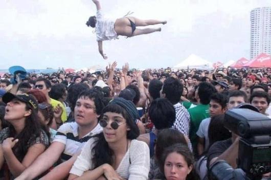 Que le jodan al concierto, yo lo que quiero ver es a la gorda volando