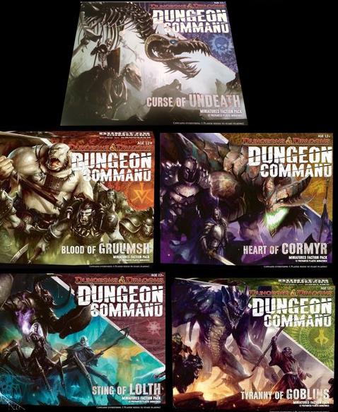 Las cinco cajas de Dungeon Command