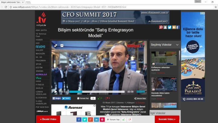 """Milliyet Tv: Bilişim sektöründe """"Satış Entegrasyon Modeli"""""""