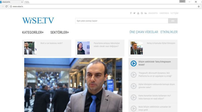 """Wise TV: Bilişim sektöründe """"Satış Entegrasyon Modeli"""""""