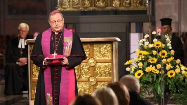 Bishop Georg Bätzing holds an ecumenical service for flood victims in late August
