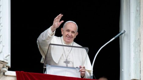 Pope Francis greets the faithful in St. Peter's Square