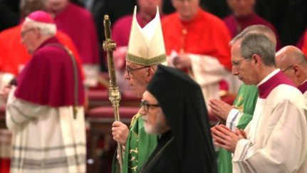 Pope Francis attends Vespers at the Basilica of Saint Paul Outside the Walls